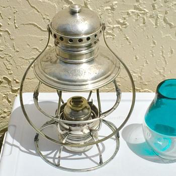 1864 Nickel Silver Adam & Westlake Presentation Conductors Railroad Lantern