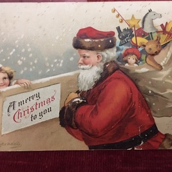 Ellen Clapsaddle Christmas Postcard 1908 - Postcards
