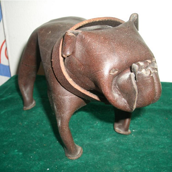 "Vintage Leather Bulldog, ""Deru"" Style - Fine Art"