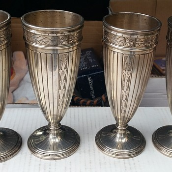 Tiffany Malted(?) Glasses - Silver