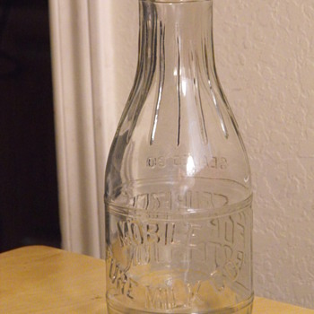 Mobile Pure Milk Co Quart Milk Bottle - Bottles