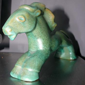 art deco Kupittaan Savi Oy Horse - Pottery
