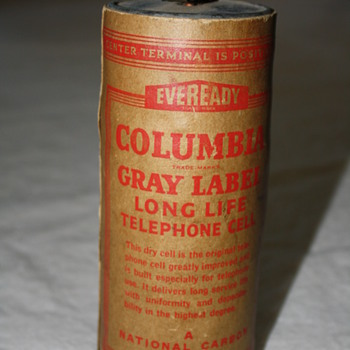 Eveready Columbia Telephone Dry Cell