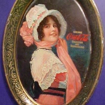 "Coca Cola 1914 ""Betty "" tip tray - Coca-Cola"