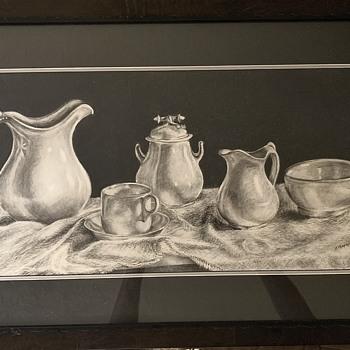 "Carol Chapman Original ""Arrangement"" Charcoal on Paper  - Fine Art"