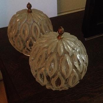 Mid Century Art Glass Pendant Light Shades - Lamps