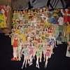 Vintage paper dolls & clothes.