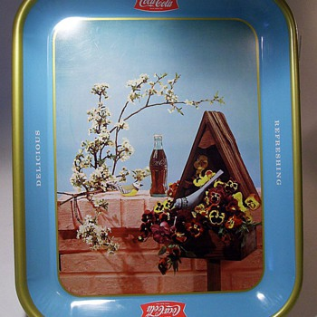 1957 Coca Cola -- Birdhouse Tray ( Canadian ) - Coca-Cola