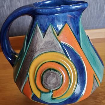 Velsen aardewerk Kennemer Potterji  Dutch Art Deco Pottery Cream Jug Model 144 - Pottery