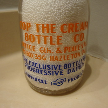QUART COP THE CREAM SALESMAN SAMPLE - Bottles