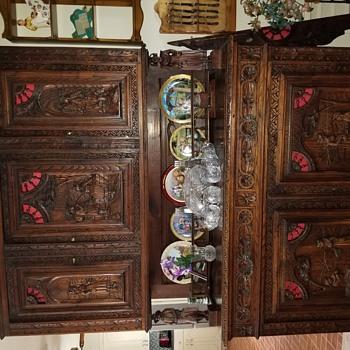 Old Dutch china cabinet  - Furniture