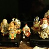ancient seven gods of luck hotei statues