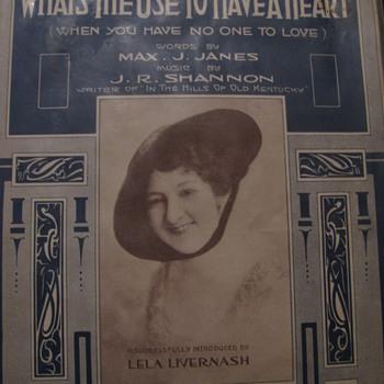 1916 Sheet Music- Sealed in plastic. Looks like new .