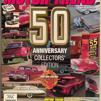 Motor Trend Magazine 50th Anniversary Issue - Paper