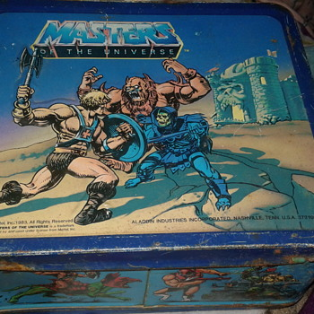 MASTERS OF THE UNIVERSE metal lunchbox Copyright (c) 1983 Mattel, Inc. - Toys