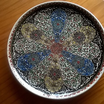 Cini Kutahya Turkish Charger, Flea Market Find, $2.50 - Pottery
