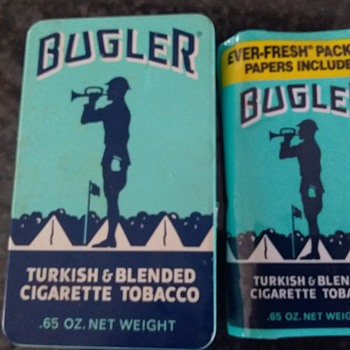 Vintage Bugler Turkish & Blended Cigarette Tobacco And Can Fount in Storage Unit.  - Tobacciana