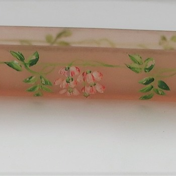 Pink Frosted Glass Posy Vase