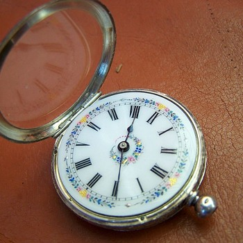 Antique Hallmarked Silver .935 Ladies Swiss Fob Watch  - Pocket Watches