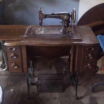 Steinway Grand treadle sewing machine in cabinet - Sewing