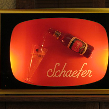 Schaefer beer sign that actually pours! - Breweriana
