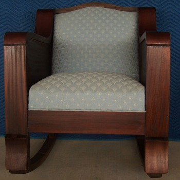 mahogany rocker  - Furniture