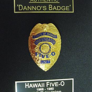Danno's Badge . . . Hawaii Five-O - Medals Pins and Badges