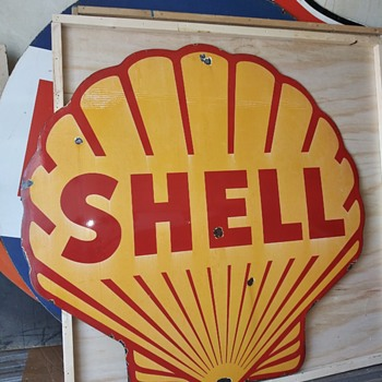 5' Shell Porcelain Sign - Signs