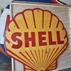 5' Shell Porcelain Sign