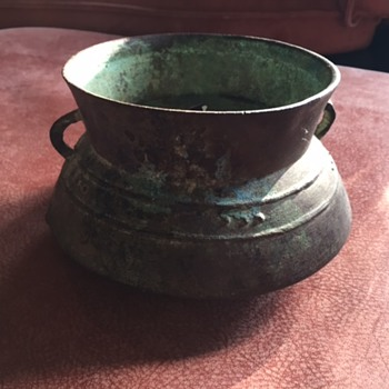 Cambodian Dong Son Bronze Saucer Bowl 500BC - Asian