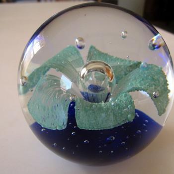 Globe Paperweight  - Art Glass