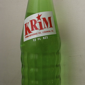Krim Pop Bottle...Lebanon, PA - Bottles