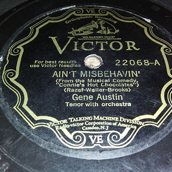GENE AUSTIN - Records
