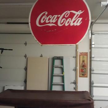 Large coke sign - Coca-Cola