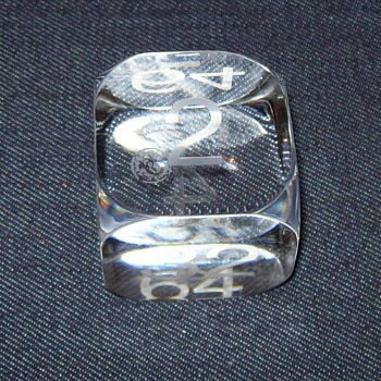 baccarat crystal backgammon doubling cube? - Art Glass