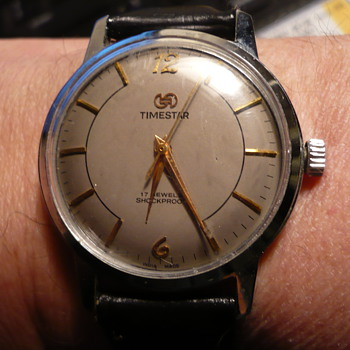 1970s Timestar Indo French - collaboration... Gray dial - Wristwatches
