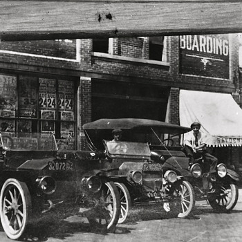 Men and Their Automobiles, c. 1914 - Photographs