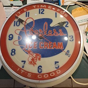 Peerless Ice Cream Clock - Advertising