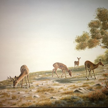James Wheeless Original Oil Painting Deer - Fine Art