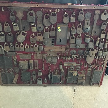 Vintage Locksmith Display - Tools and Hardware