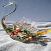 Art glass swan