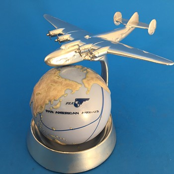 Circa 1938   A C Rehberger Boeing B-314  Pan Am Clipper Ashtray- PC'd - Advertising