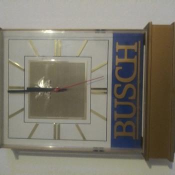 Busch lighted clock - Signs
