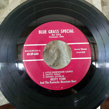 Rusty York and The Kentucky Mountain Boys Extended Play 45rpm