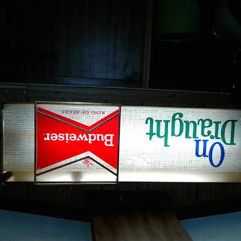 Budweiser lighted sign