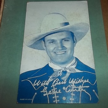GENE AUTRY CARD - Cards