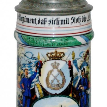 Imperial German reservist's stein of Adam Bayerlieb