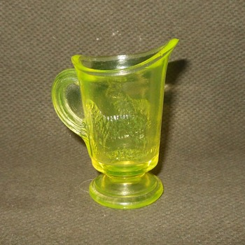 Boyd Glass Vaseline Glass Toothpick Holder 1978 - Current - Glassware