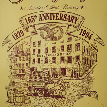 Yuengling Brewery 1994 165th Anniversary Poster - Breweriana