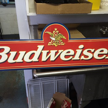 My vintage budweiser tin sign  - Signs